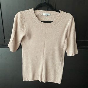 Madewell light pink knit top